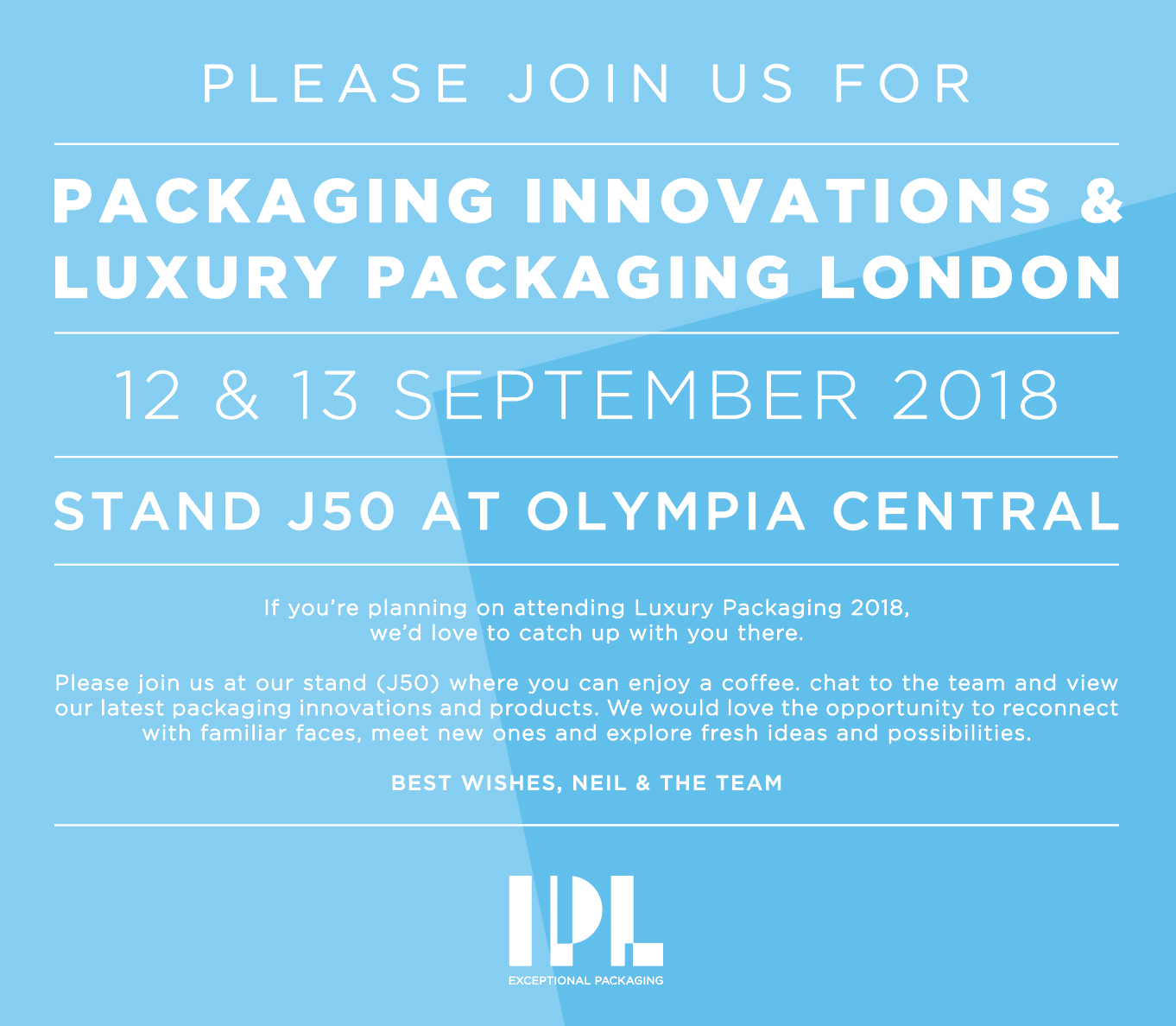 You're Invited to the 2018 Packaging Innovations & Luxury Packaging Show