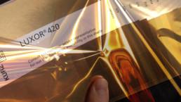 Eureka Pantone gold colour swatches