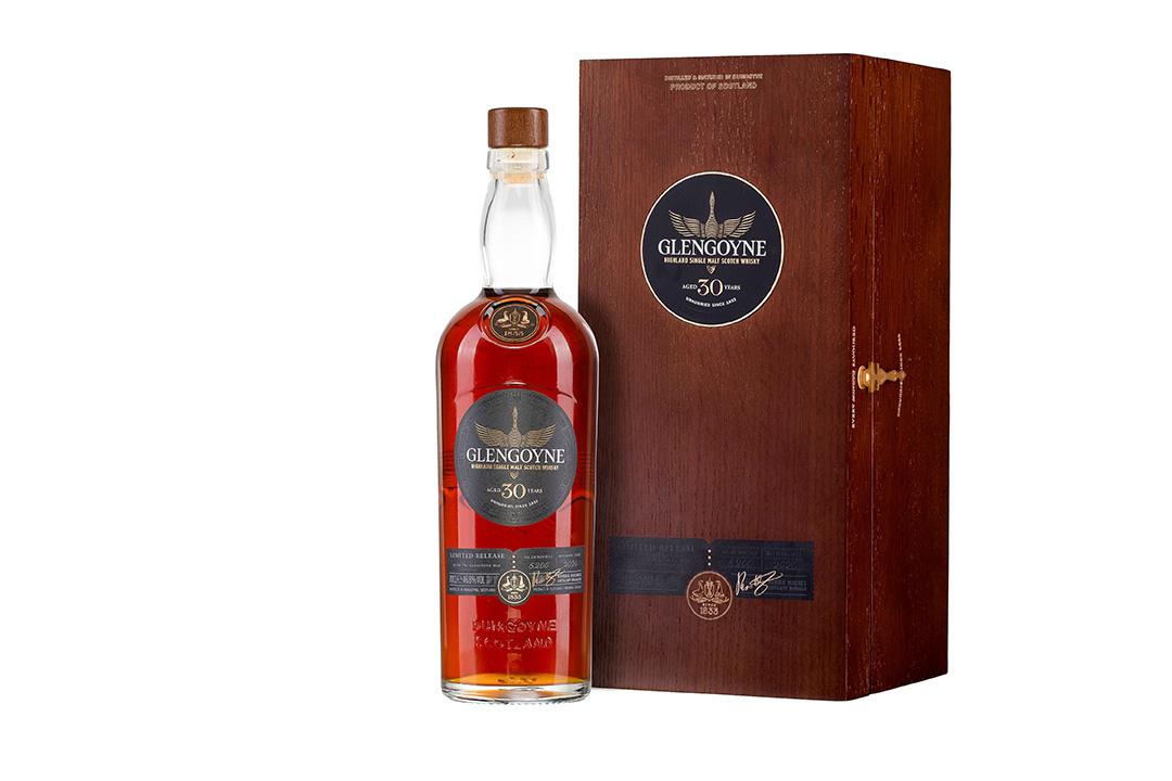 Glengoyne 30 year old whisky bottle