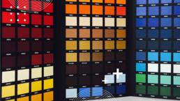 Colour keys on a wall