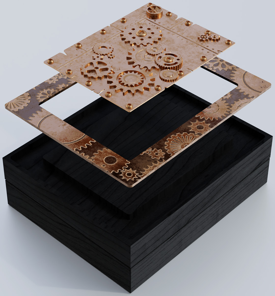 Steampunk box created by IPL Packaging