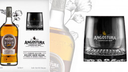 Angostura 1919 premium rum gift box and glass tumblers