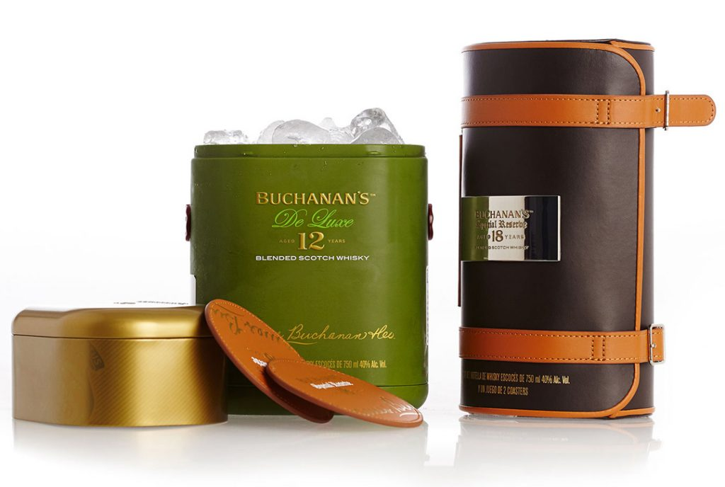 Buchanan's whiskey reusable tin
